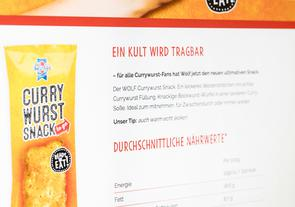 Curry Wurst Snack Landing Page Website